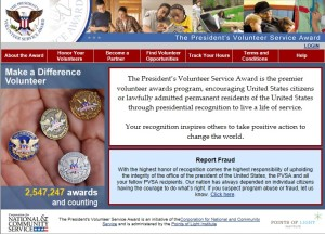 Presidential Award Website